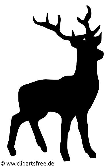 Cerf dessin - Silhouette cliparts à télécharger