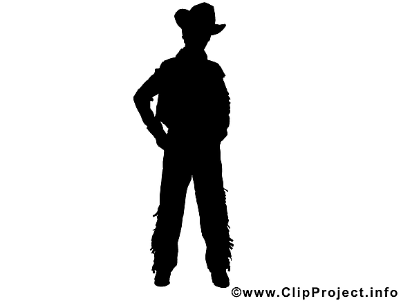 Cow-boy image à télécharger - Silhouette clipart