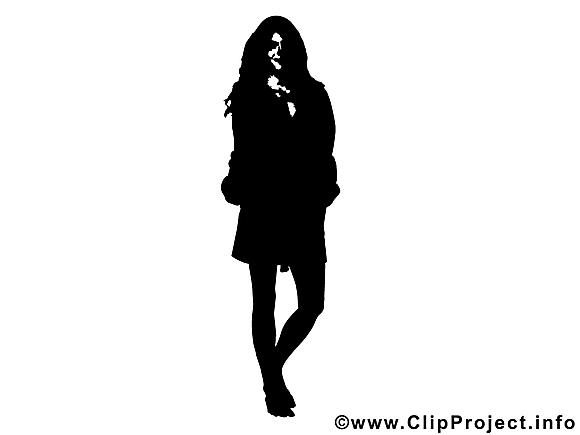 Dessiner Une Silhouette De Femme femme clipart gratuit - silhouette dessins - silhouettes dessin