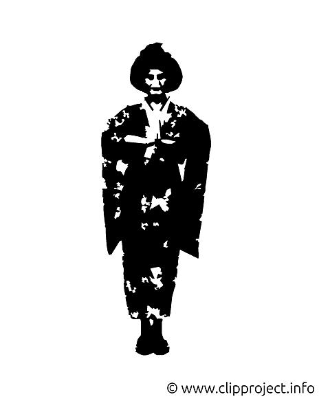 Geisha illustration - Silhouette images gratuites