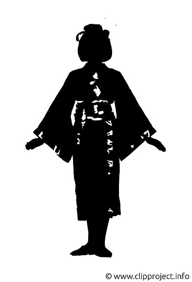 Geisha image gratuite - Silhouette illustration