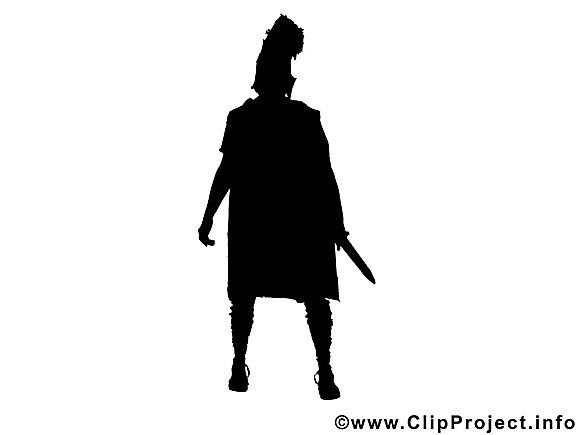 Gladiateur clip art gratuit - Silhouette dessin