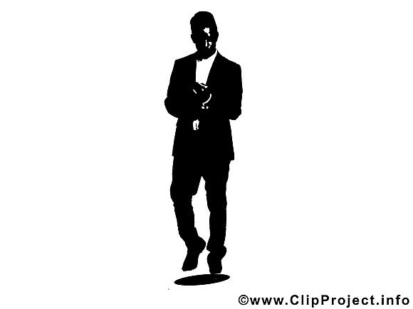 Homme d'affaire image gratuite - Silhouette cliparts