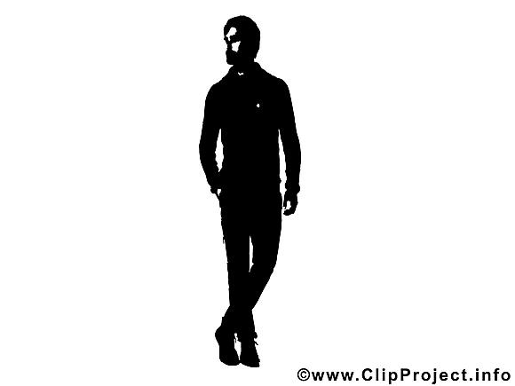 Homme dessin gratuit - Silhouette clip arts gratuits
