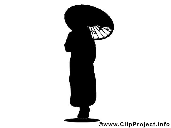 Japonaise clip art gratuit – Silhouette images gratuites