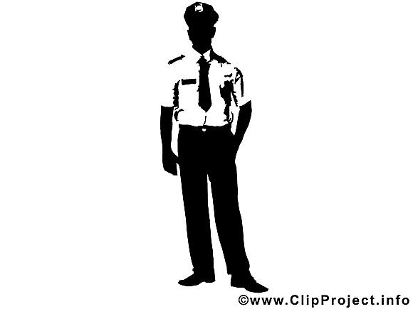 Policier dessin à télécharger - Silhouette images