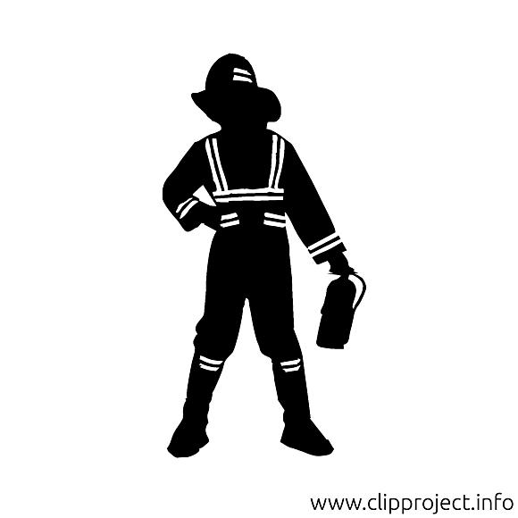 Pompier dessin - Silhouette cliparts à télécharger
