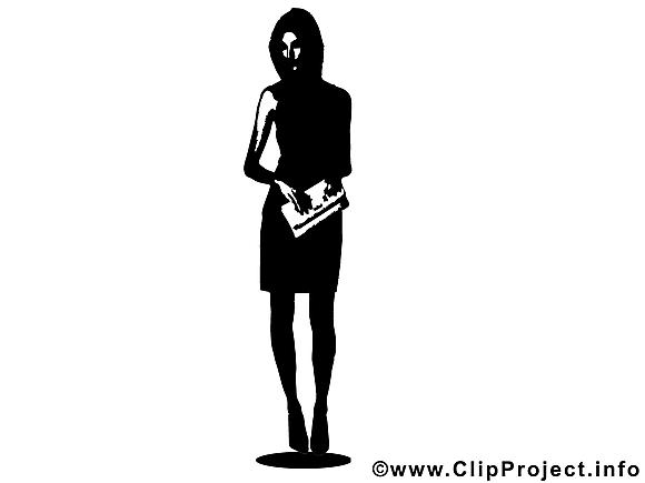 Silhouette clip arts gratuits - Femme illustrations