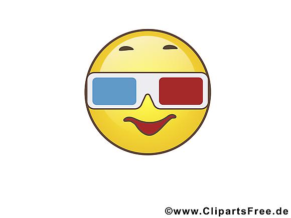 À lunettes 3d smiley images gratuites