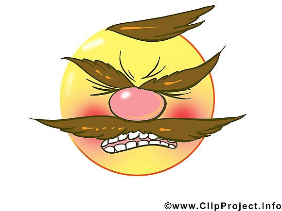 En colère émoticône image gratuite