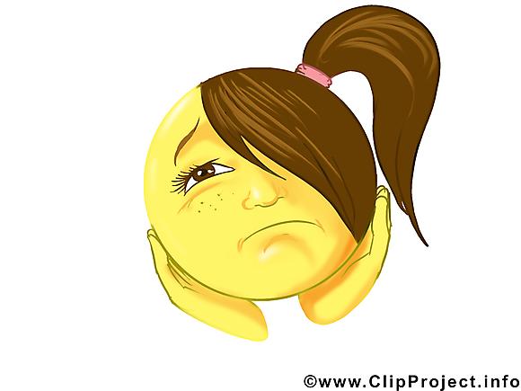 Ennuyée émoticône illustration à télécharger gratuite