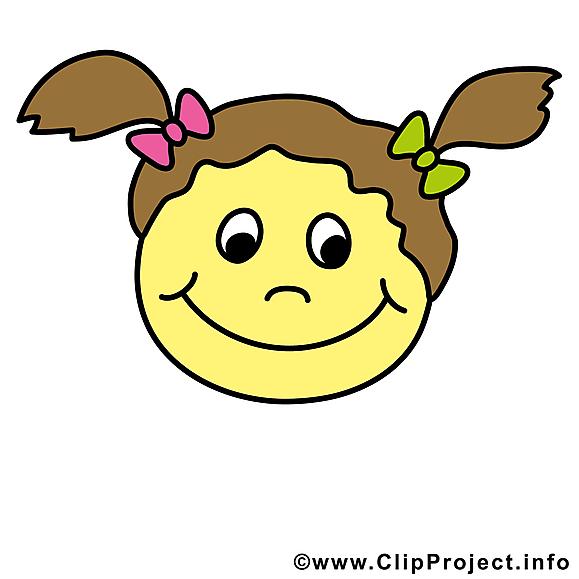 Fille smiley clipart gratuit
