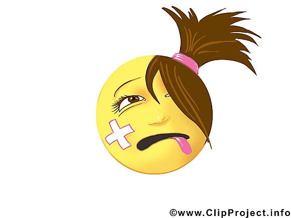 Malade émoticône illustration gratuite