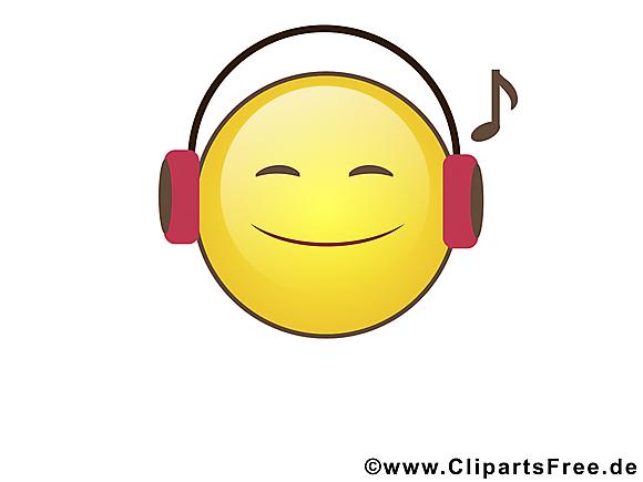 Musique smiley clipart gratuit smileys dessin picture - Image smiley gratuit ...