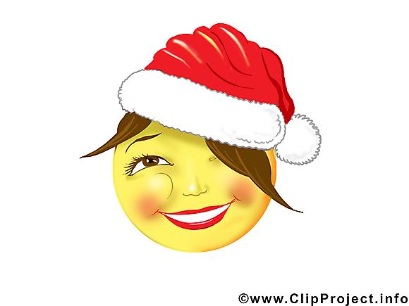 Noël smiley image gratuite