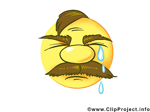 Pleure émoticône clip art gratuit