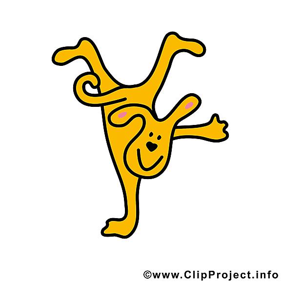 Acrobate image gratuite - Chien cliparts