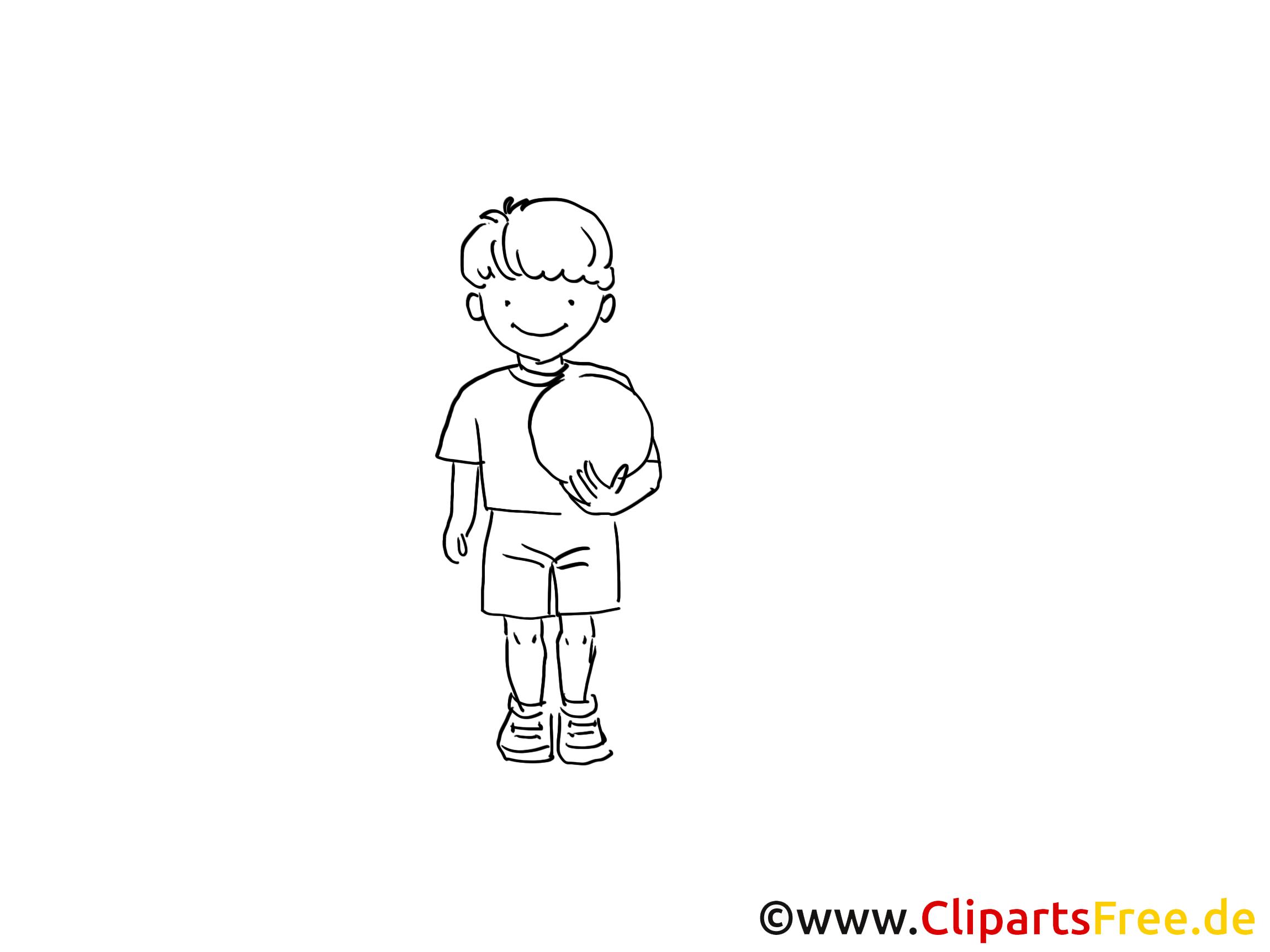 Balle coloriage – Joueur images gratuites