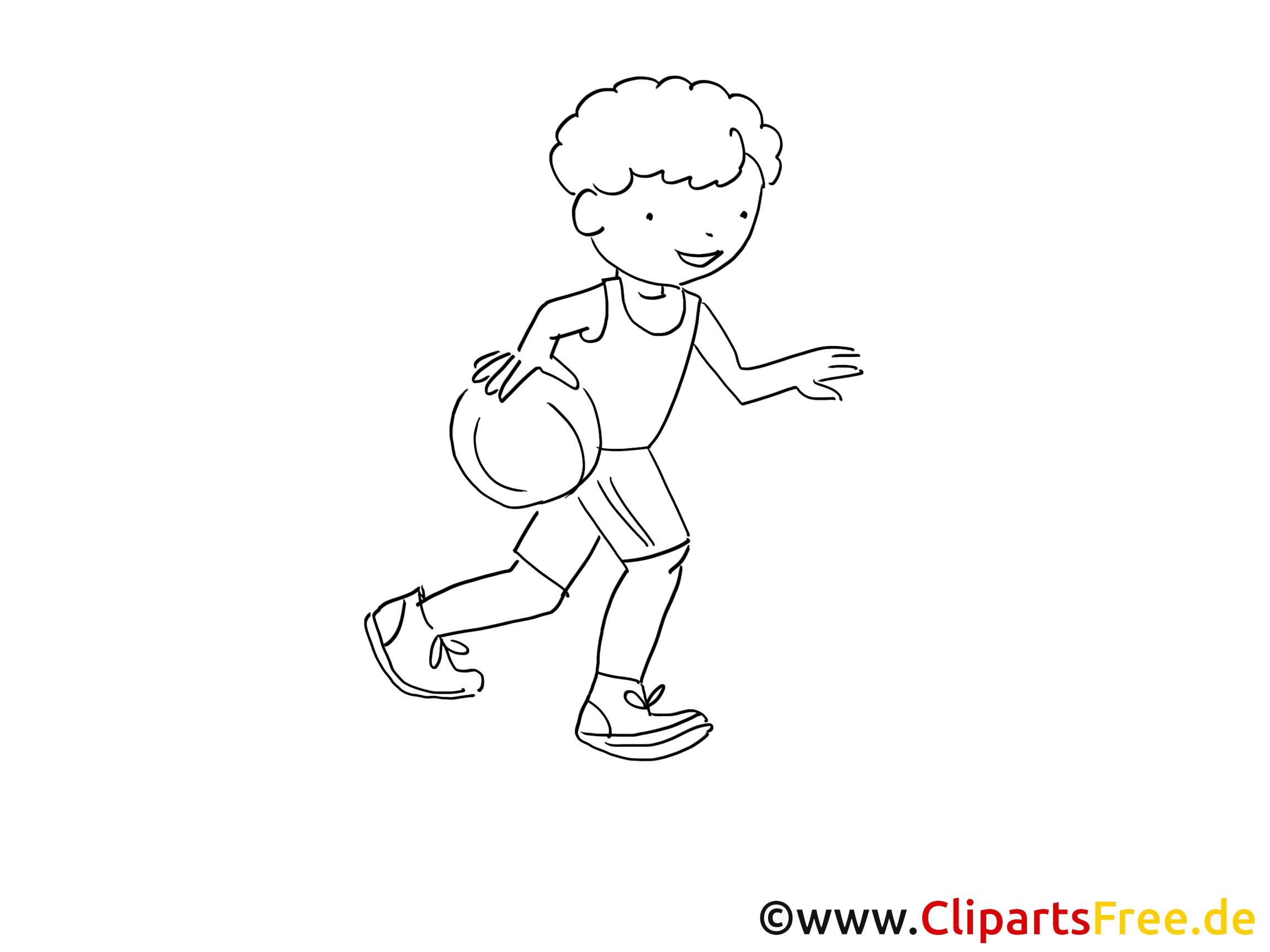 Basket-ball images à colorier - Balle clip art