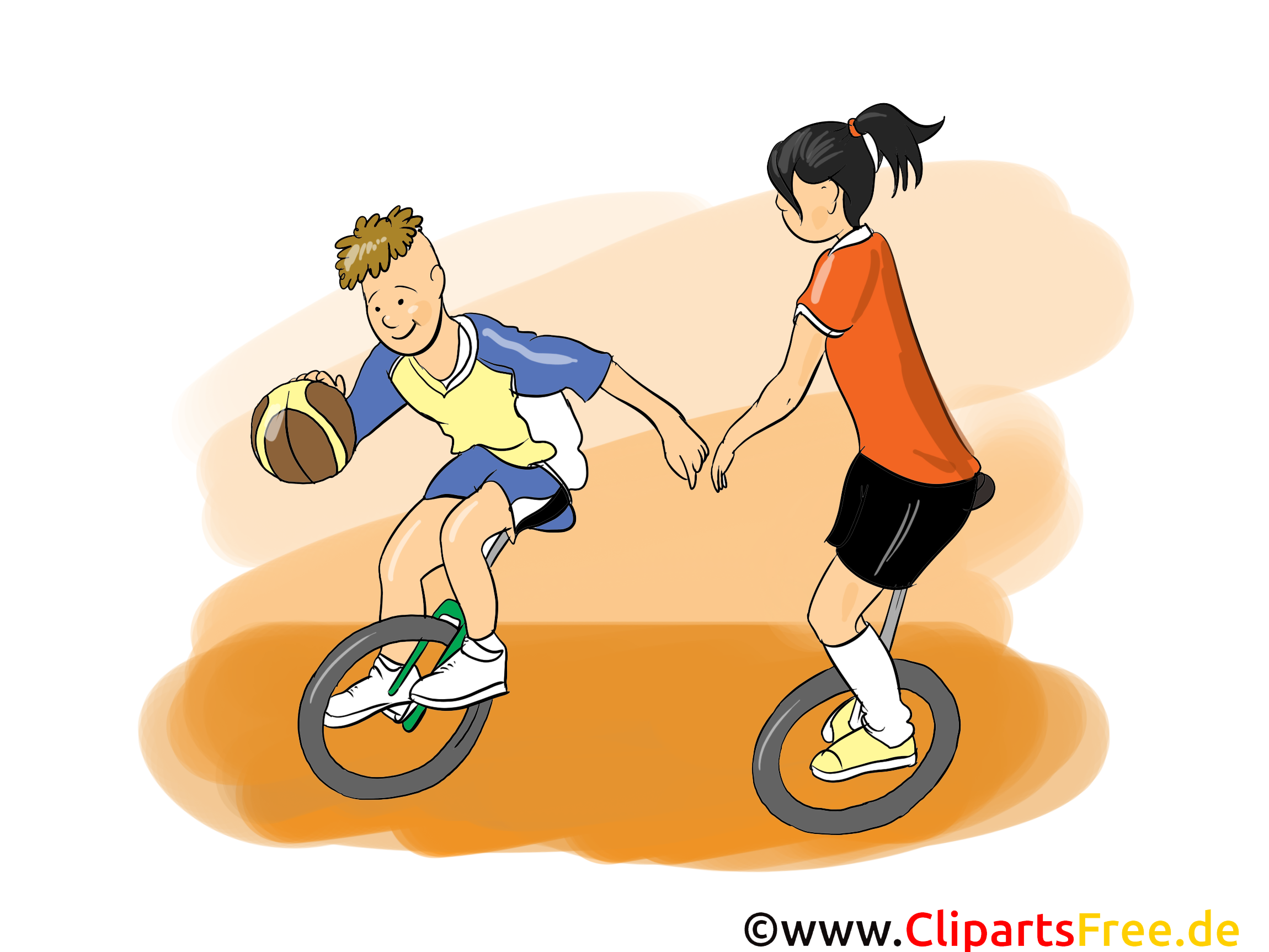 Basket-ball sur monocycle dessins gratuits