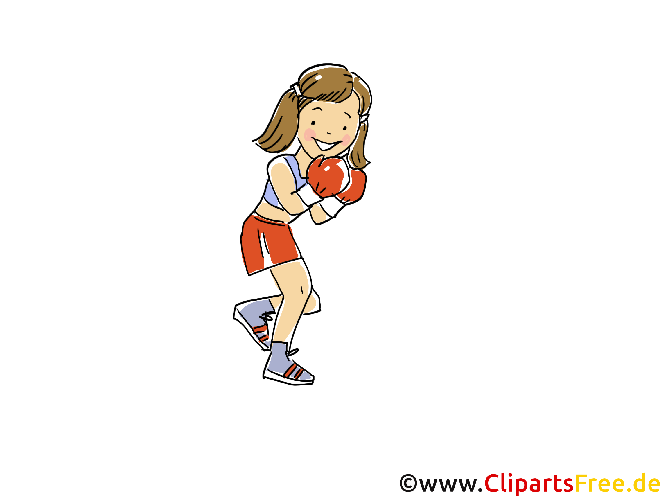 Boxeur dessin gratuit à télécharger
