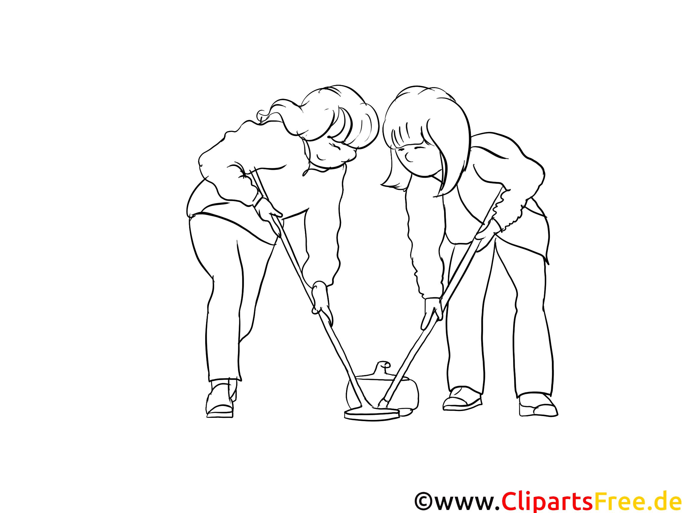 Curling dessin gratuit à imprimer