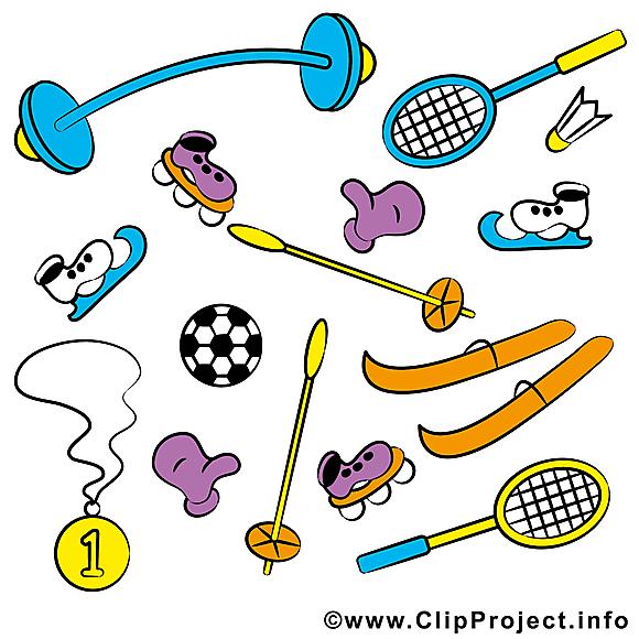 Équipement sportif illustration gratuite