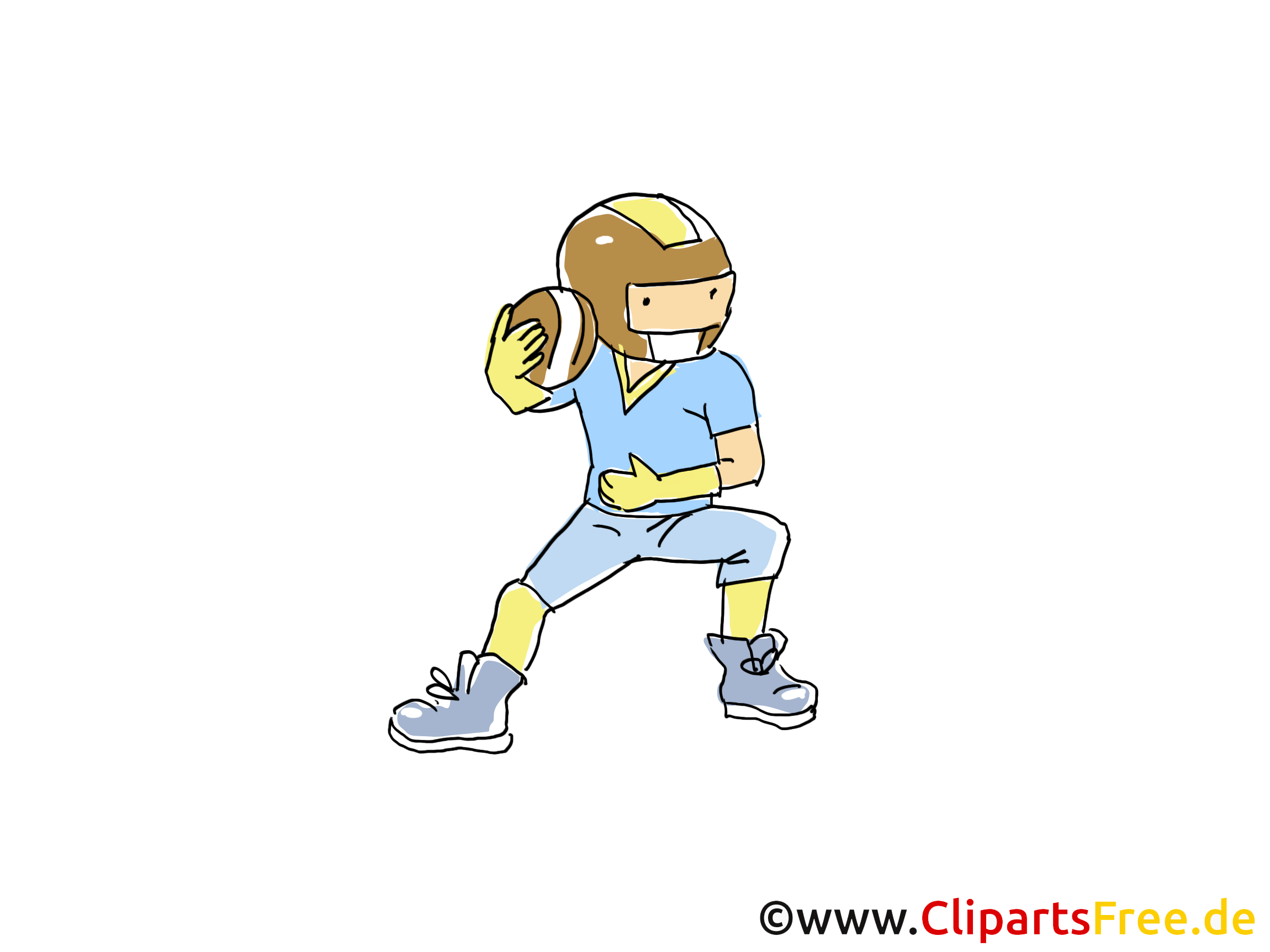 Football américain illustration gratuite