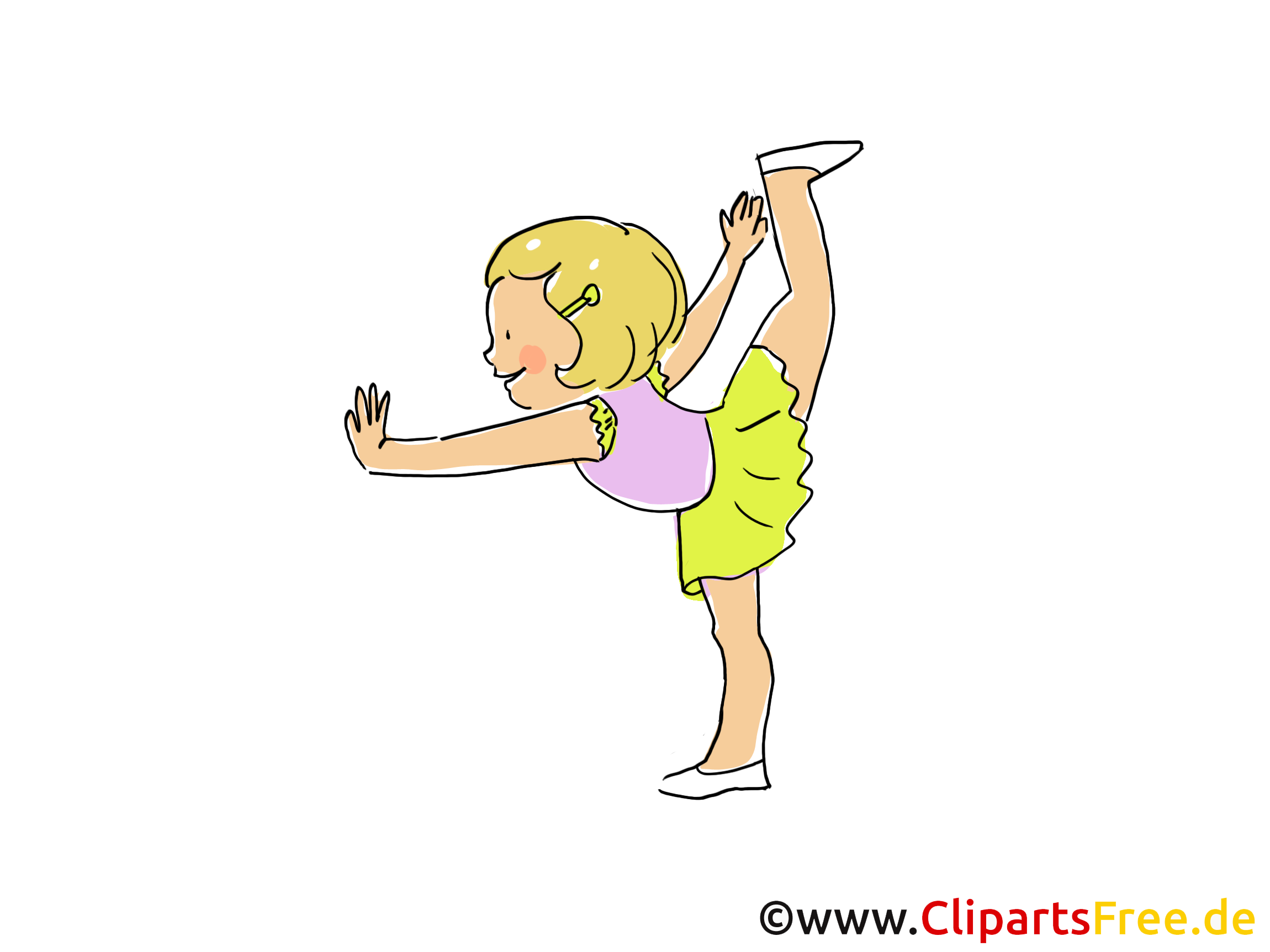 Gymnaste illustration gratuite - Athlète clipart