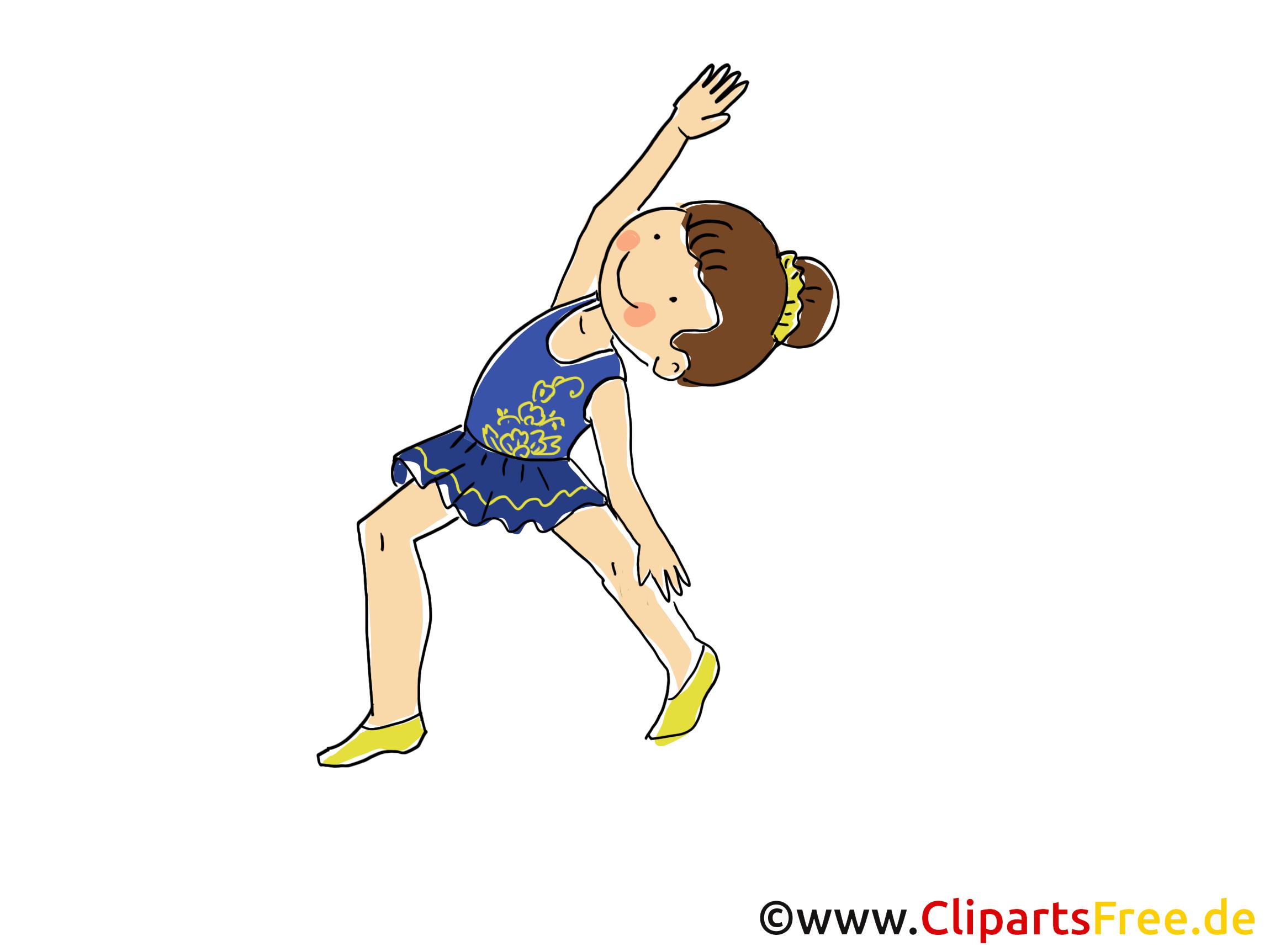 Gymnastique au sol cliparts gratuis - Athlète images
