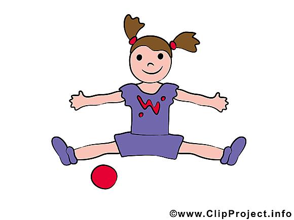 Gymnastique images - balle dessins gratuits