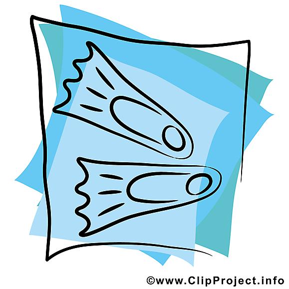 Palmes image gratuite – Plongée sous-marine clipart