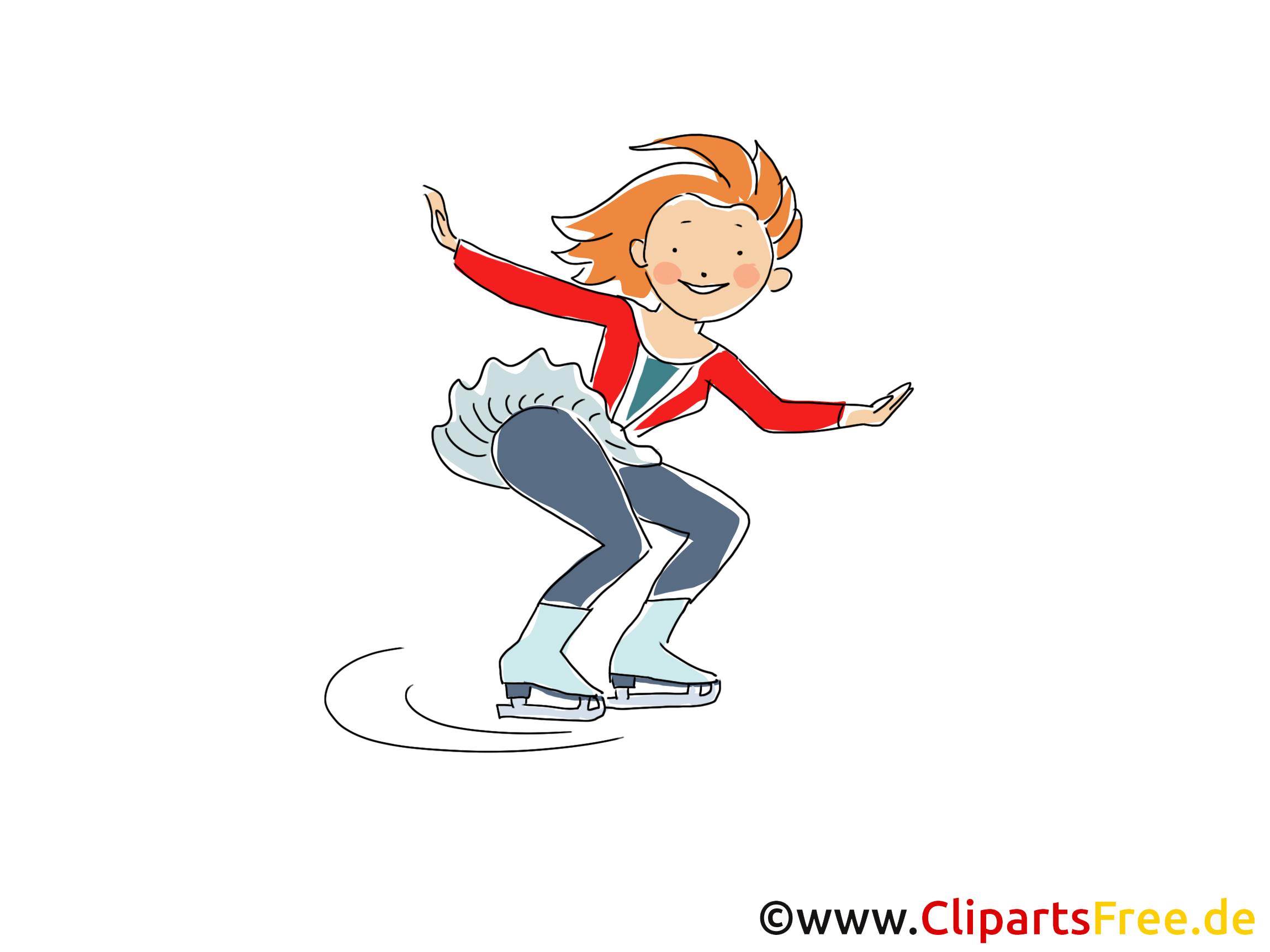 Patinage image gratuite – Patins à glace clipart