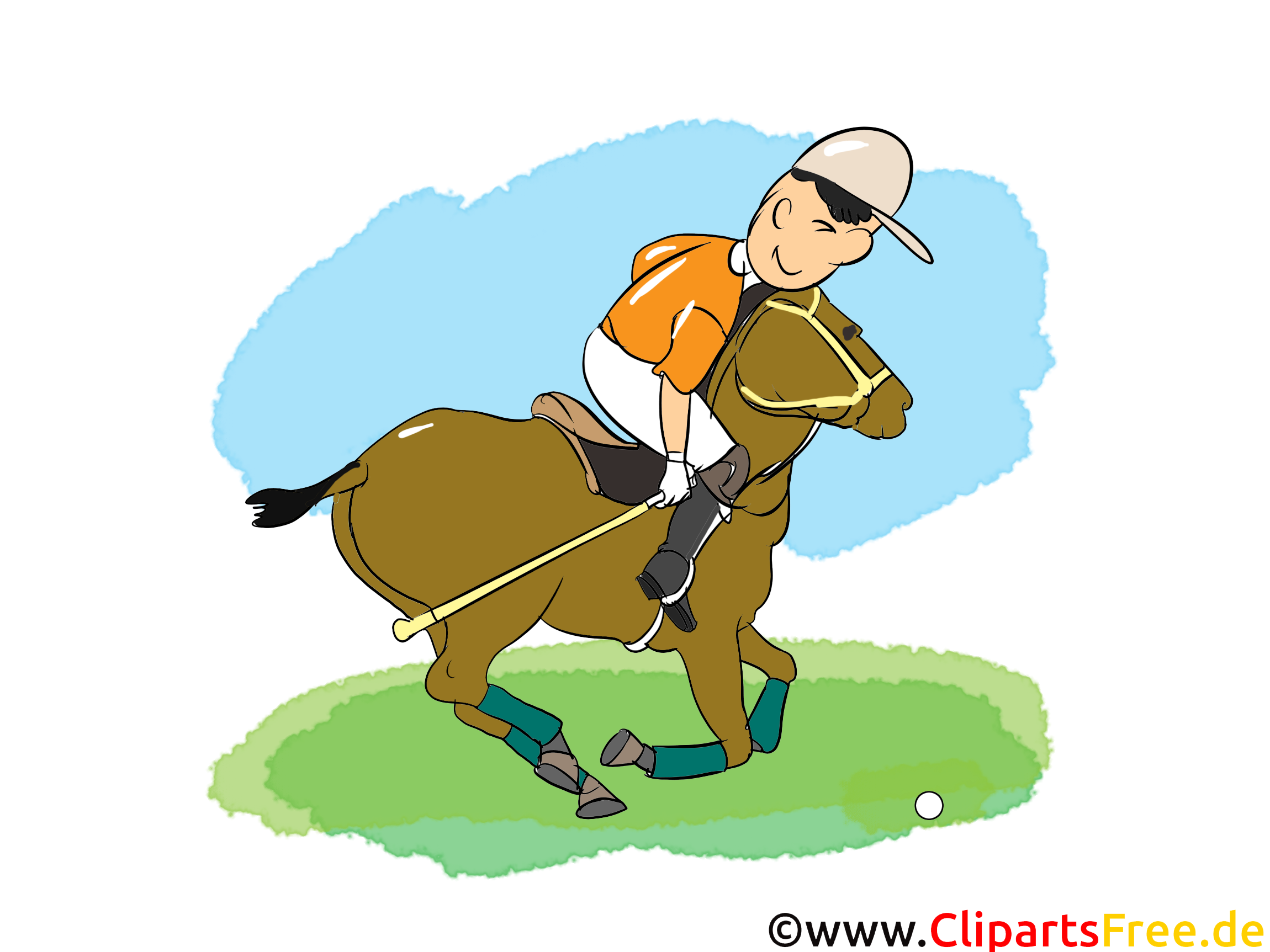 Polo clipart gratuit - cheval images