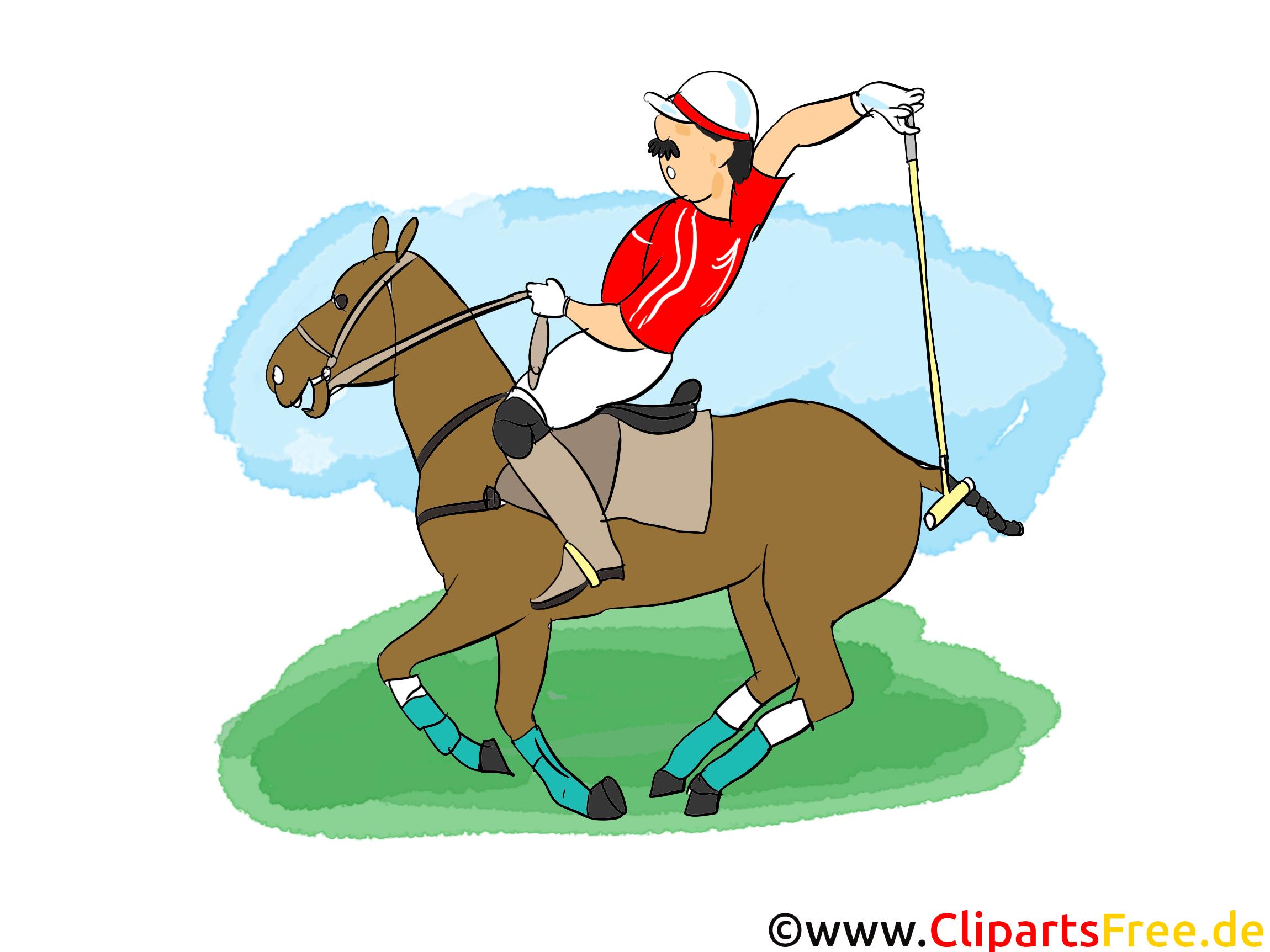 Polo image gratuite - Cheval cliparts
