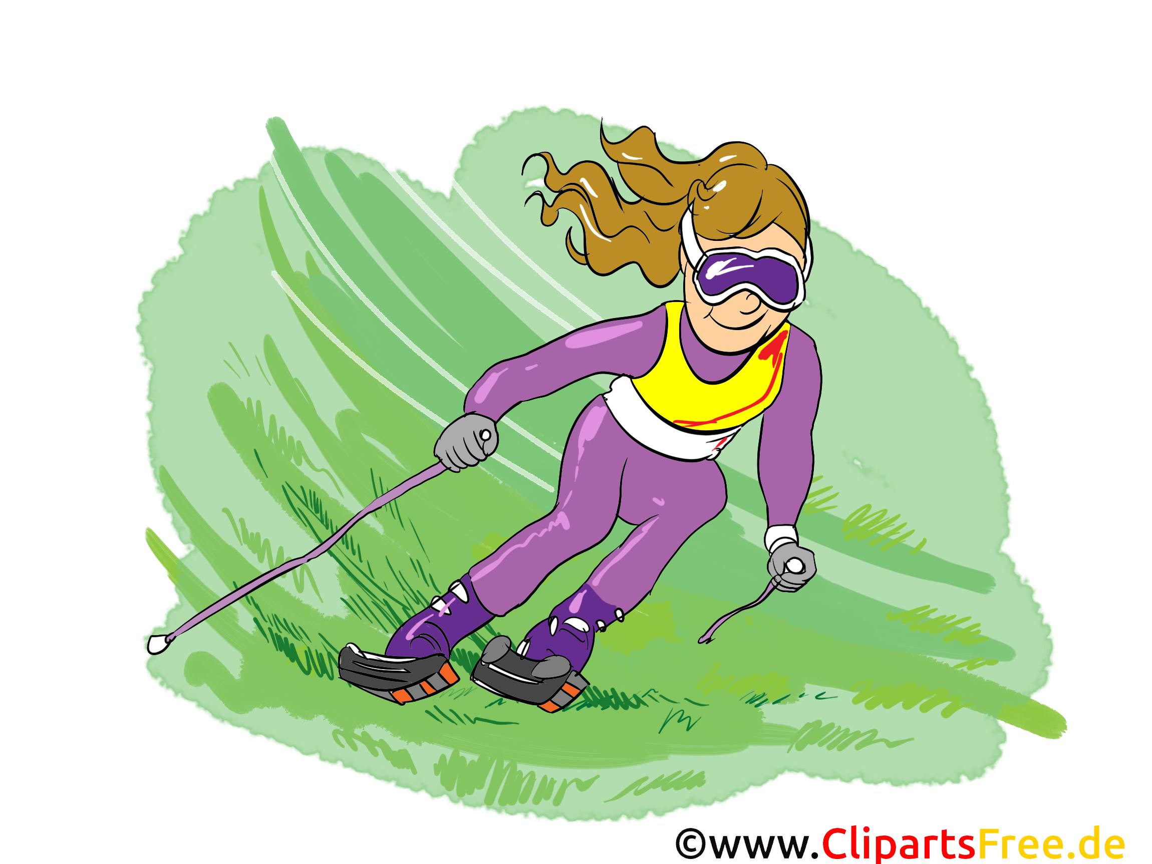 Ski sur herbe illustration images gratuites