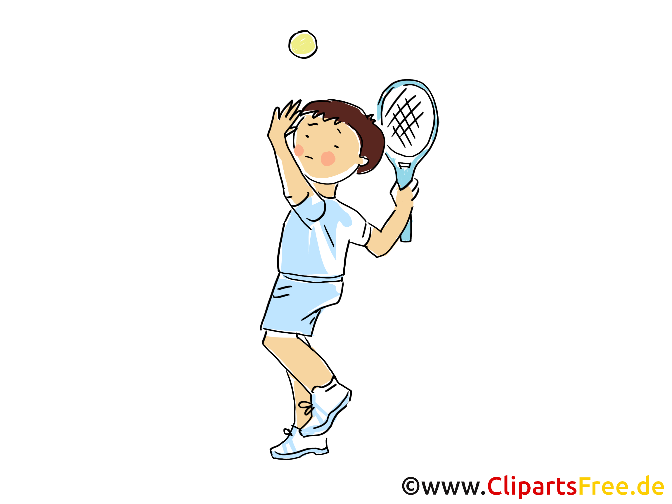 Tennis clip arts gratuits - Badmington illustrations