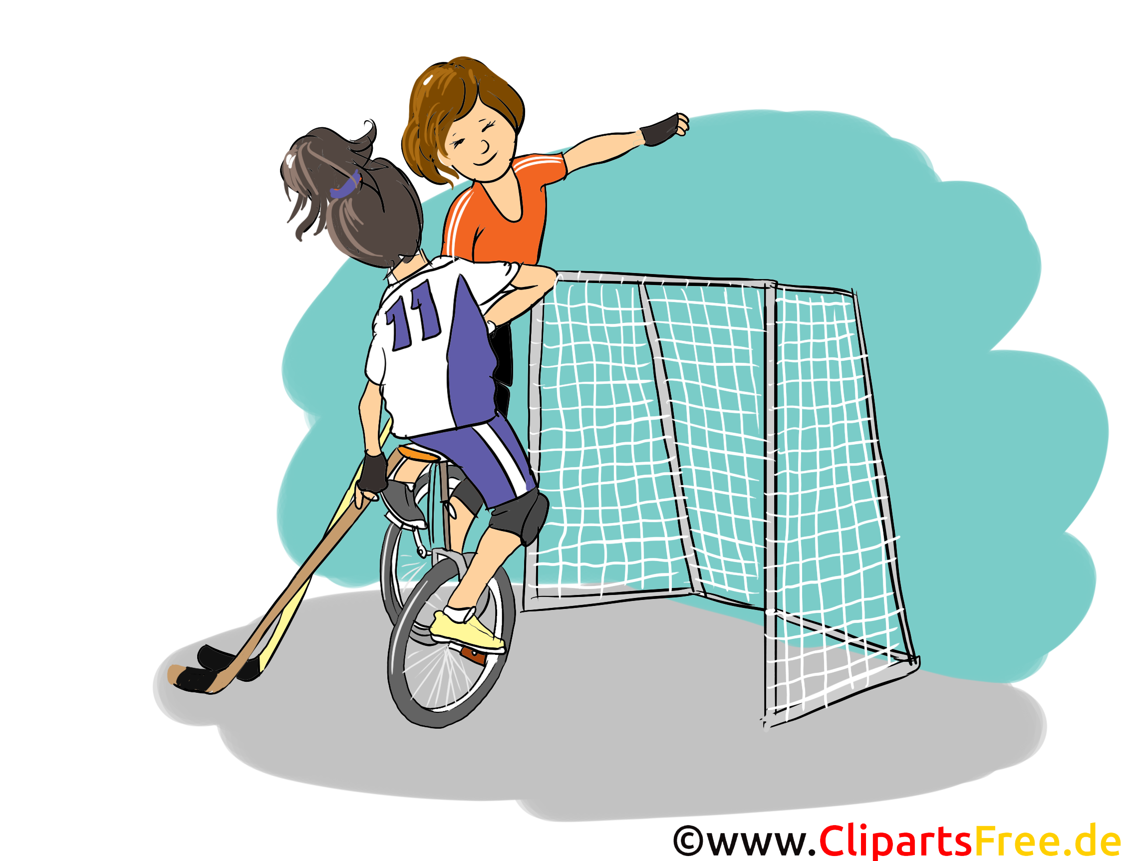 Unicycle hockey clip art gratuit