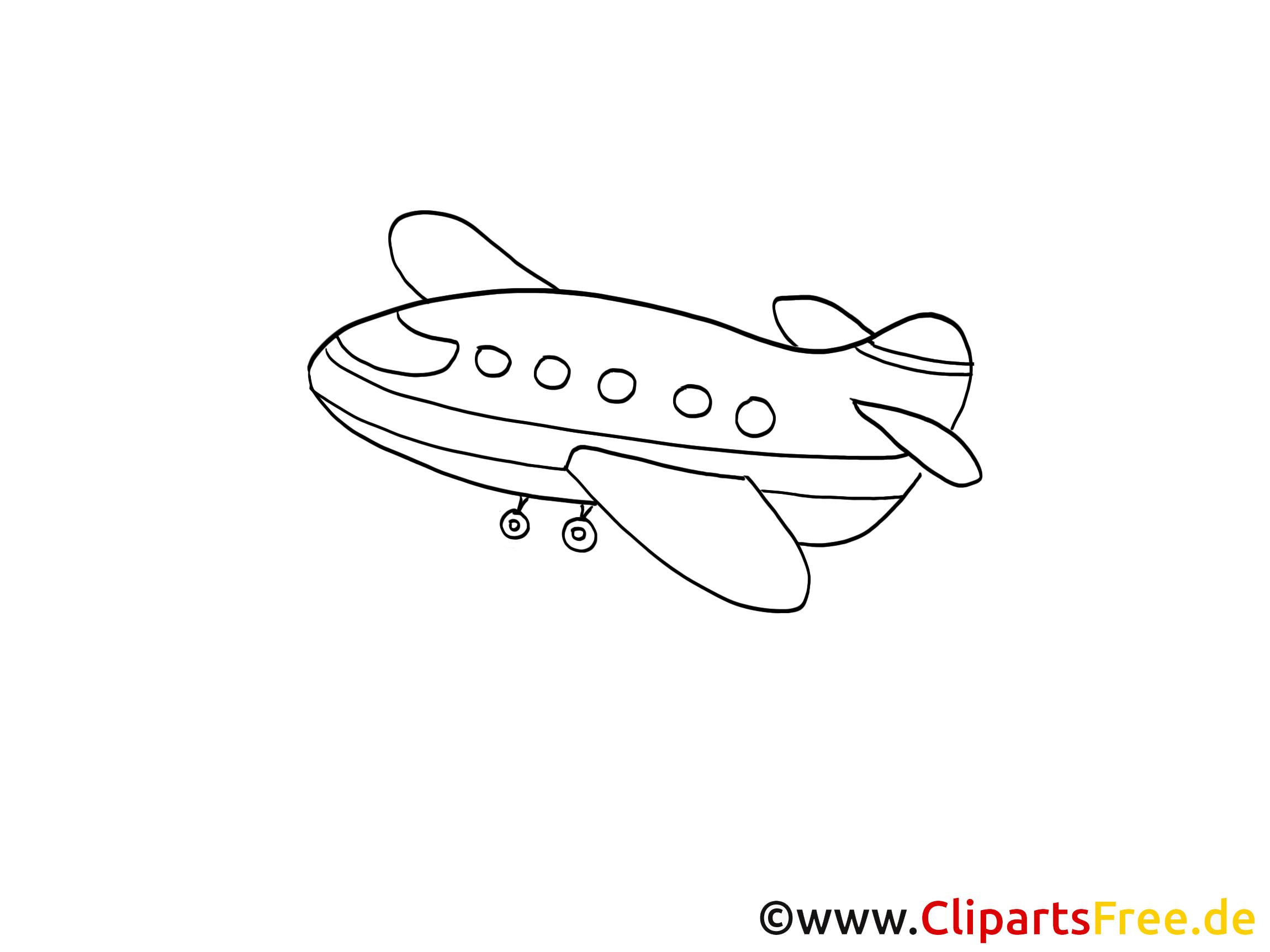Avion dessin gratuit à imprimer
