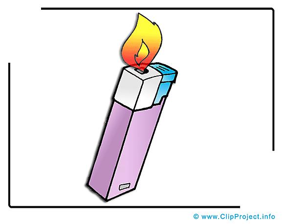 Briquet  clip art gratuit - Feu dessin
