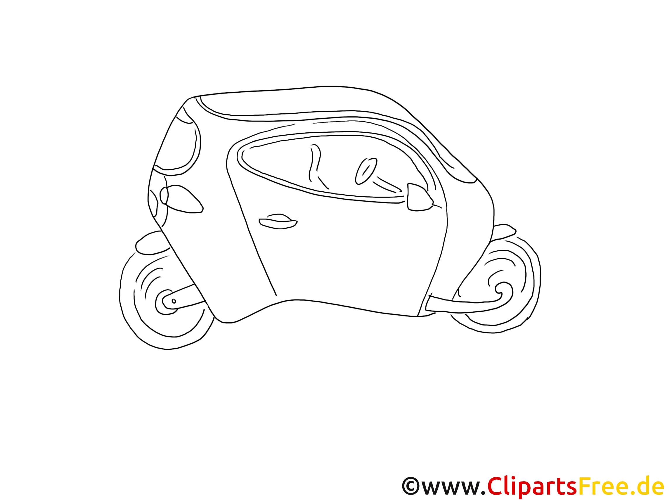 Concept-car image à colorier clipart