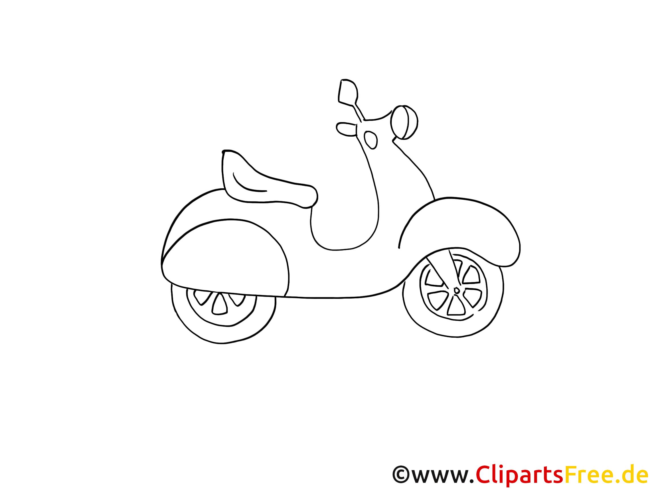Motocyclette dessin à colorier