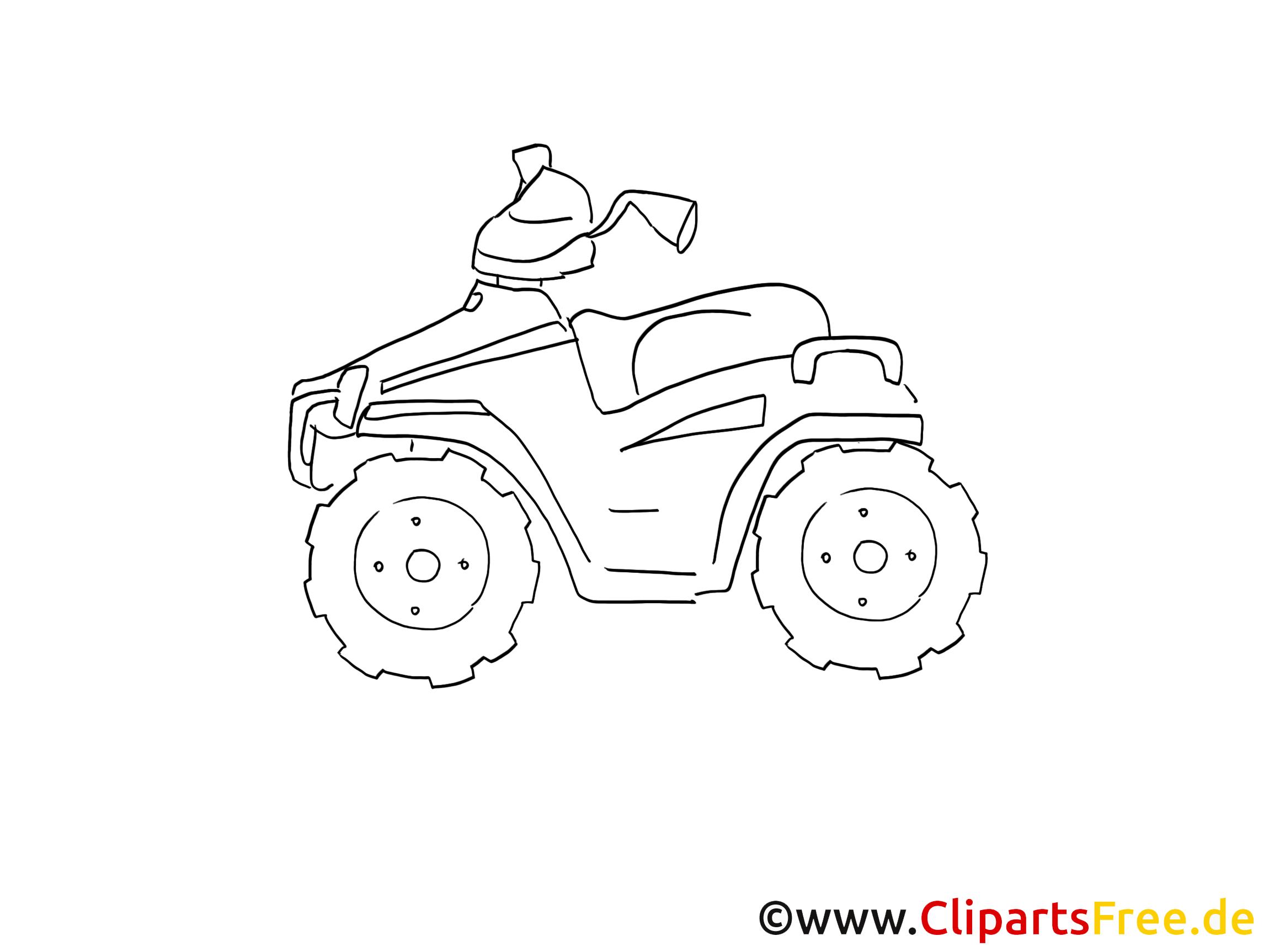 Quad illustration gratuite clipart