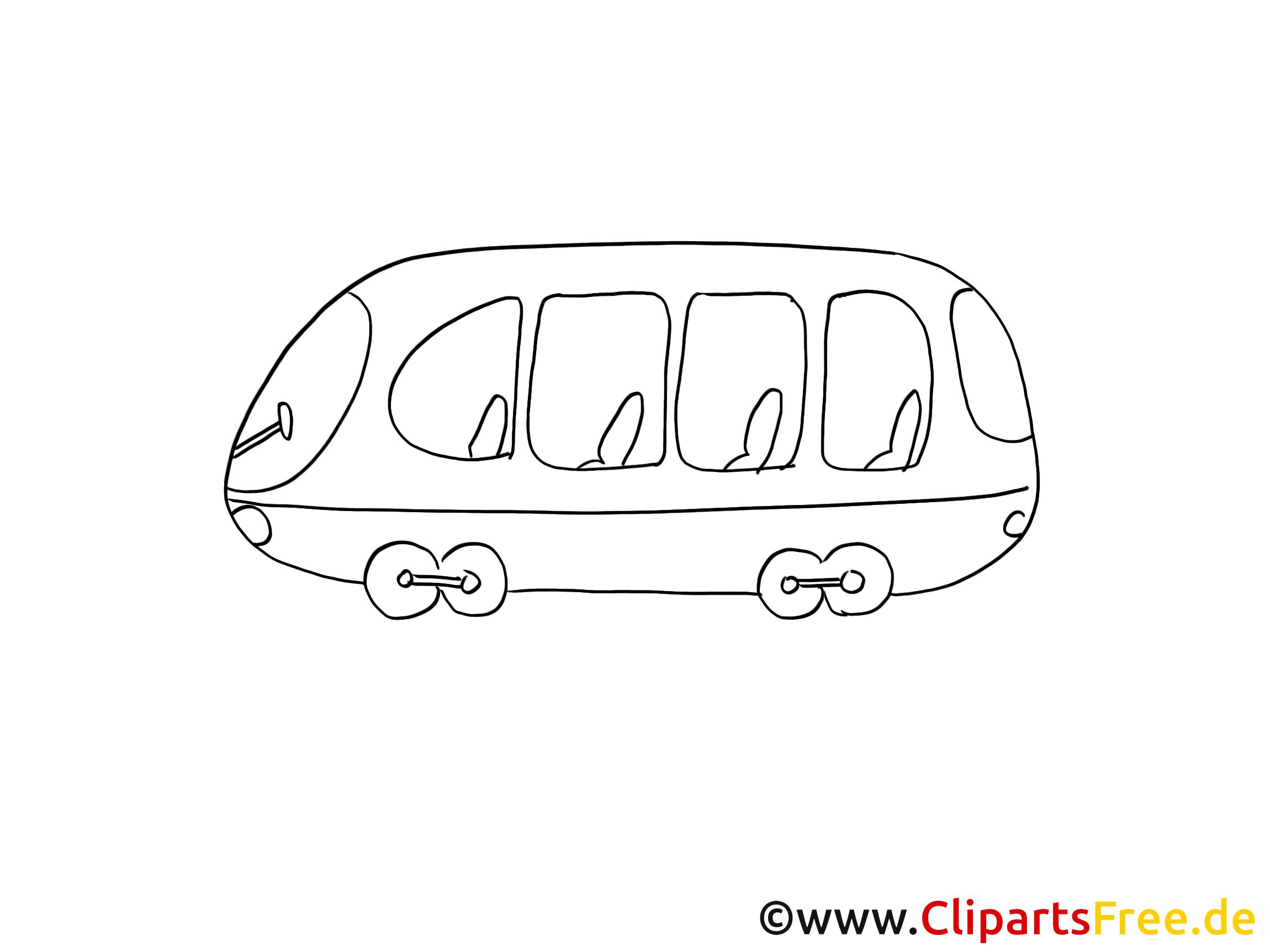 Tramway image à colorier gratuite