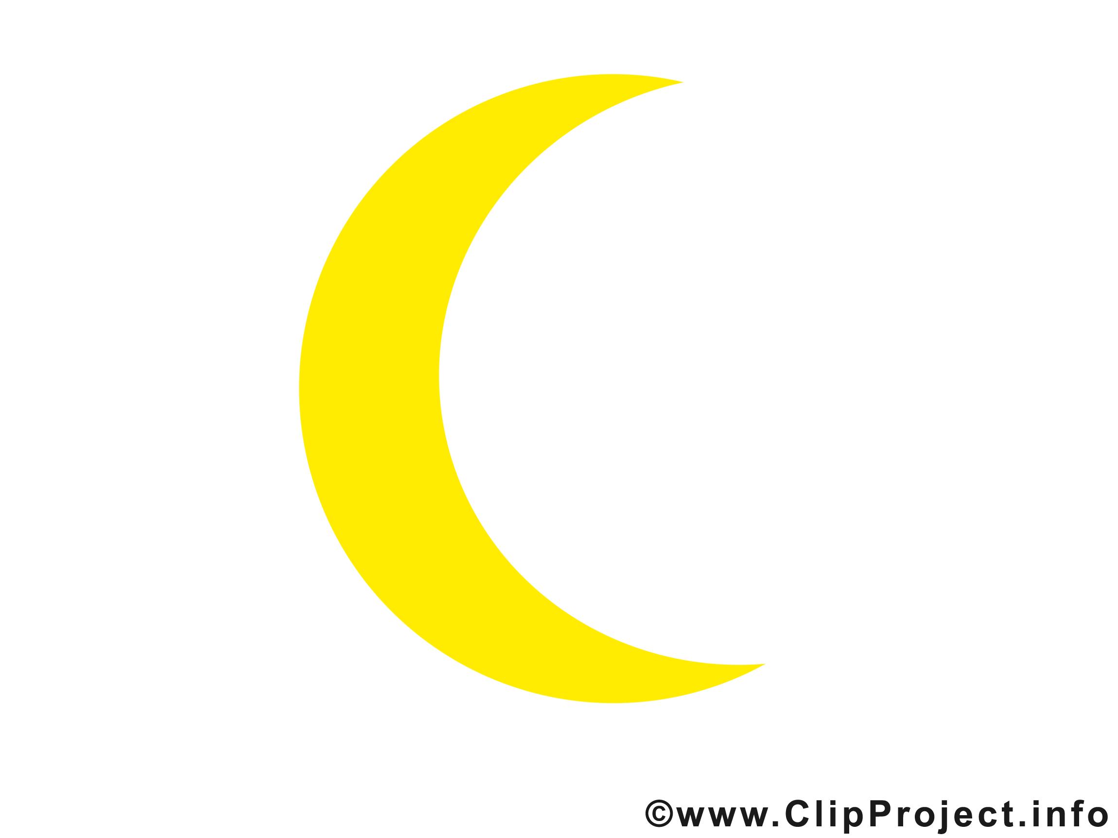 Croissant clip art gratuit - Lune dessin - Temps images ...