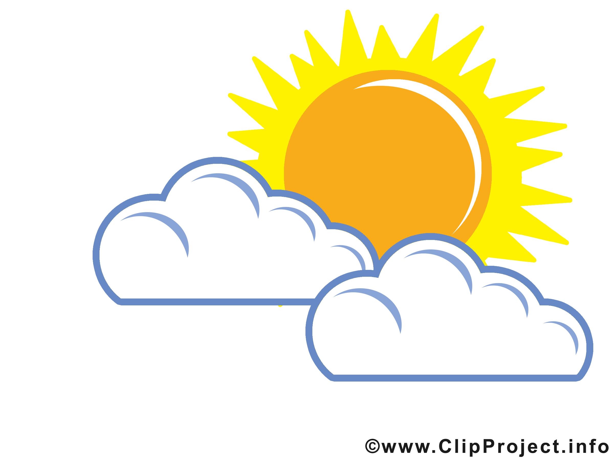 Top Nuages clip art gratuit – Soleil images gratuites - Temps images  TW07