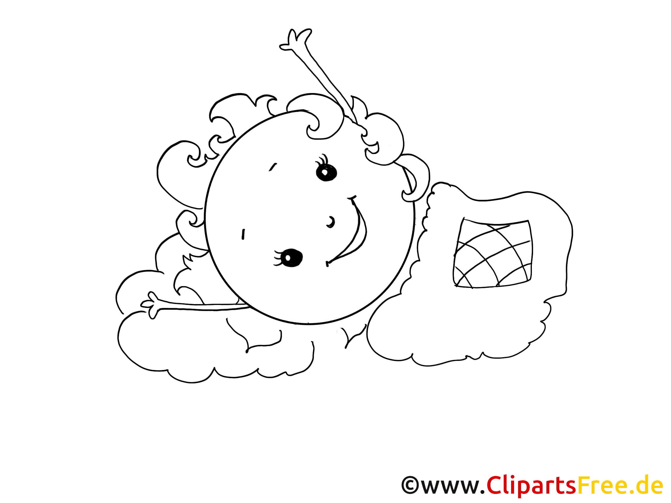 R veil dessin colorier soleil clip arts gratuits - Dessin reveil ...