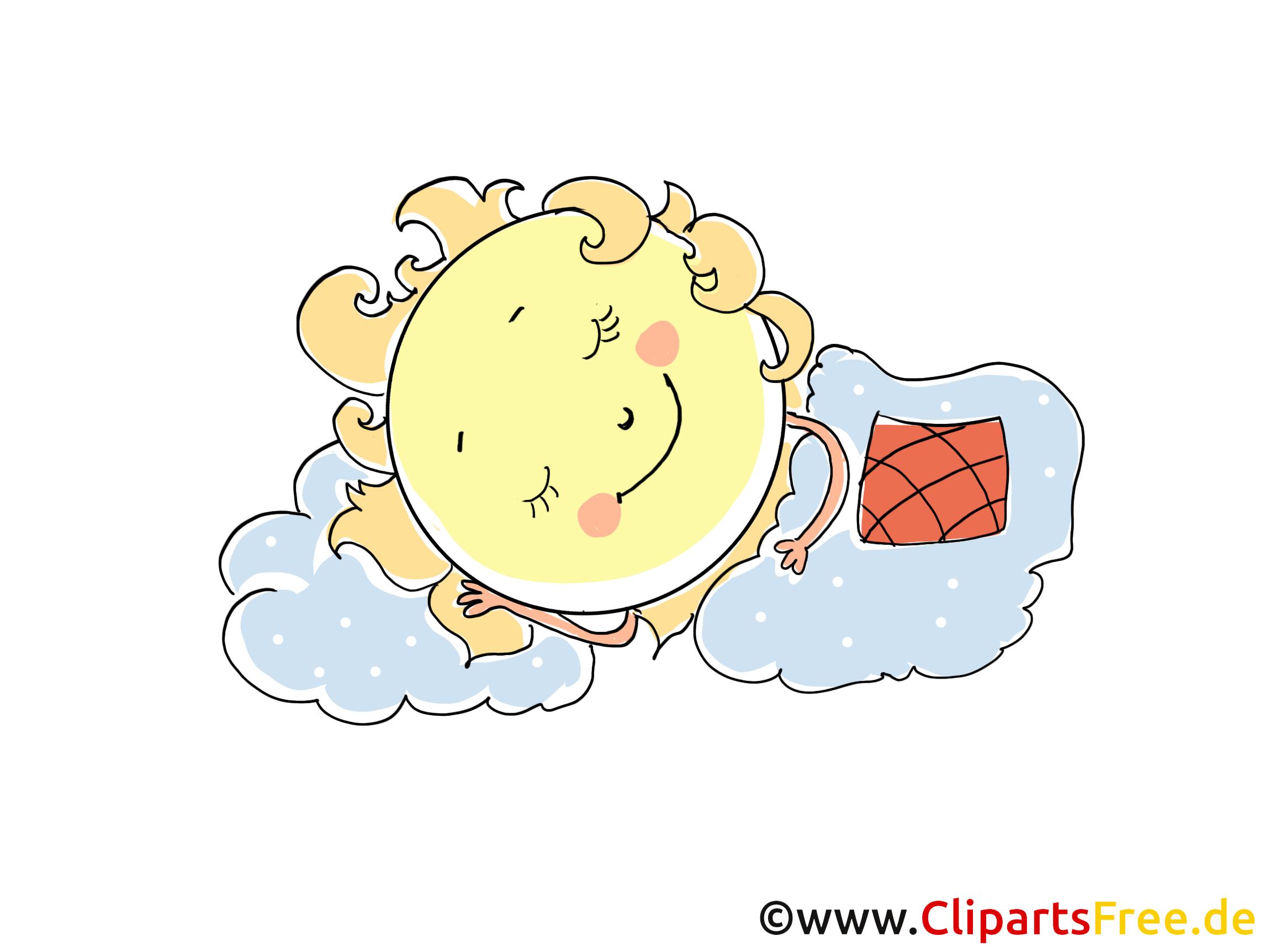 Célèbre Sommeil dessins gratuits - Soleil clipart gratuit - Temps images  LB45