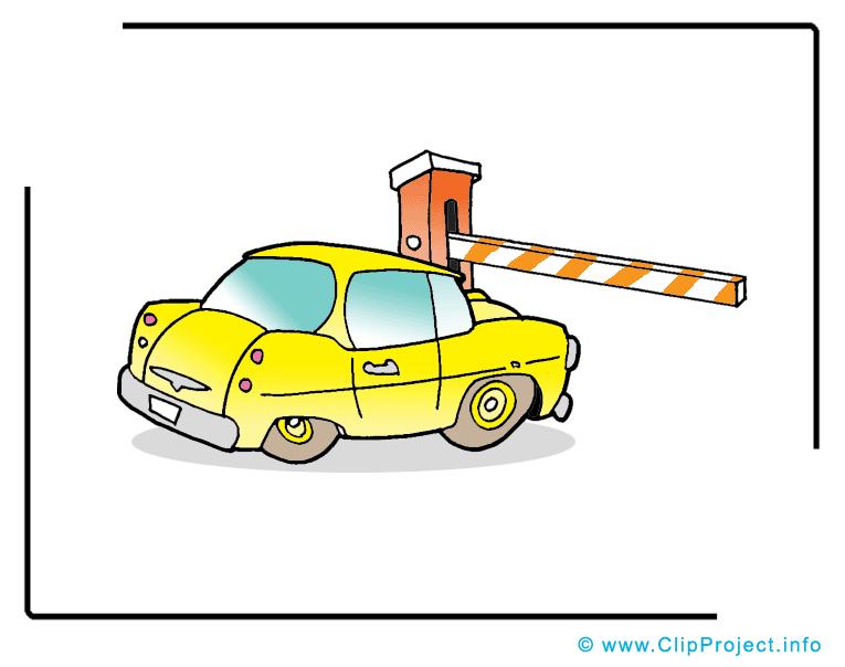 Barri re dessin voiture clip arts gratuits voitures - Dessin humoristique voiture ...