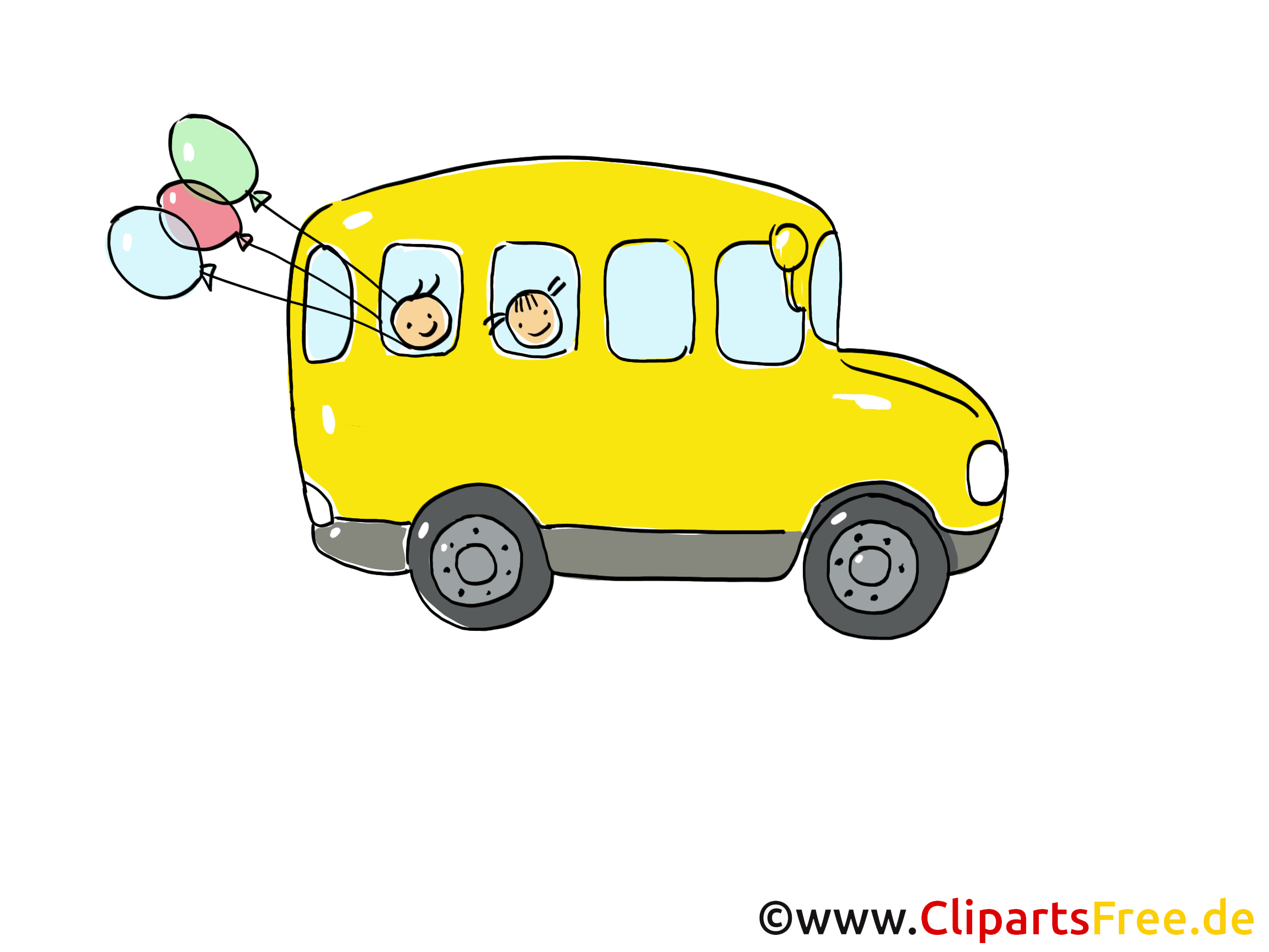 Bus scolaire clip arts gratuits illustrations